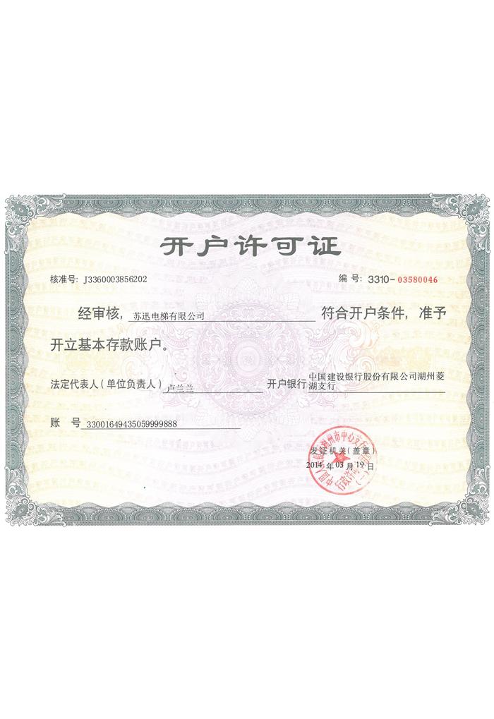 Opening permit