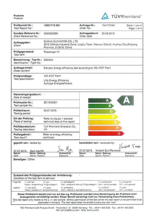 Passenger ladder energy saving report