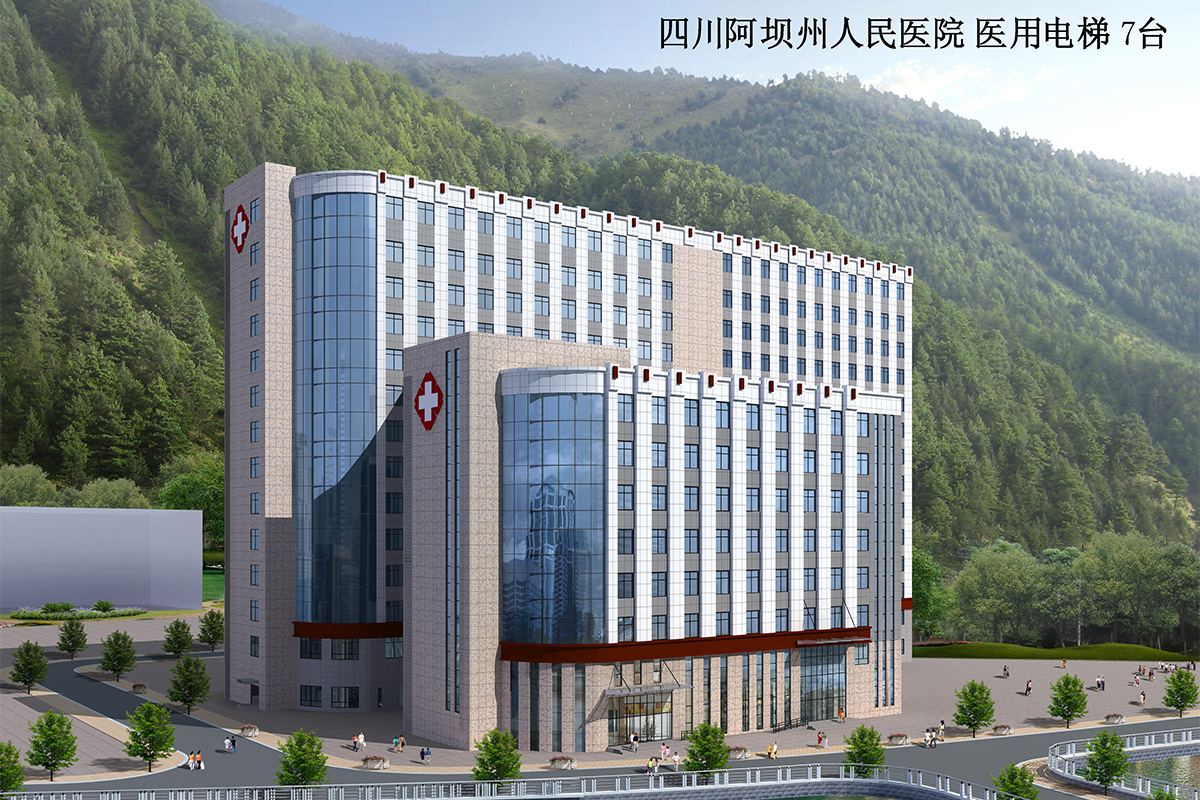 Sichuan Aba People's Hospital 7 sets hospital elevator
