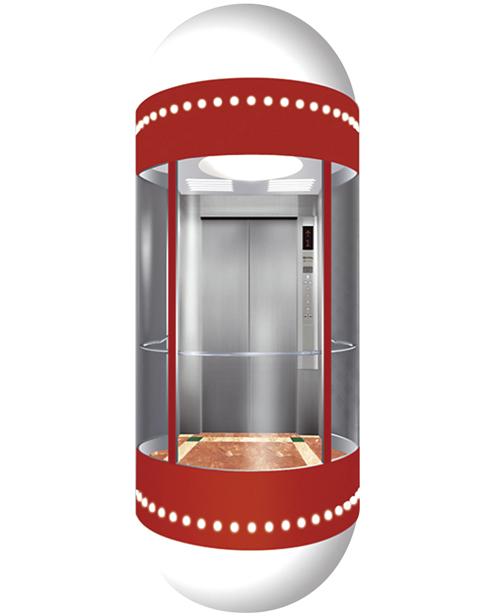 Panoramic Elevator  Car Decoration SSE-G004