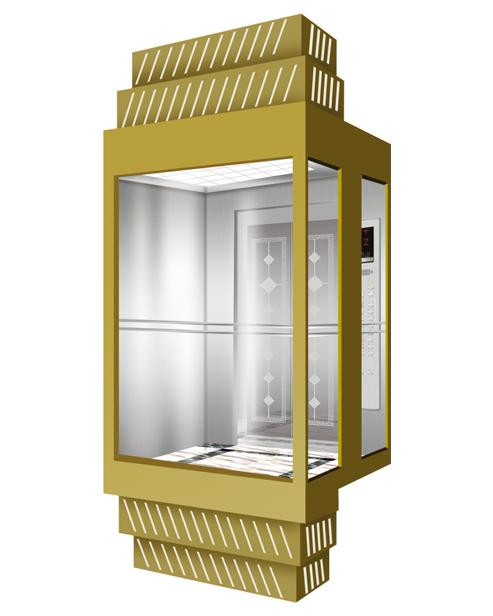 Panoramic Elevator  Car Decoration SSE-G018