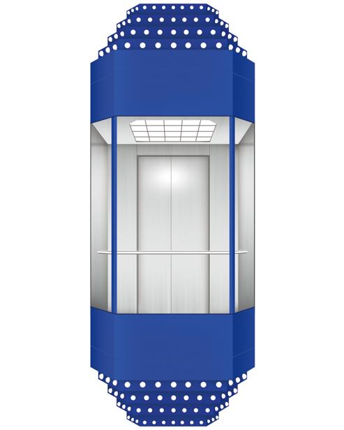 Panoramic Elevator  Car Decoration SSE-G022