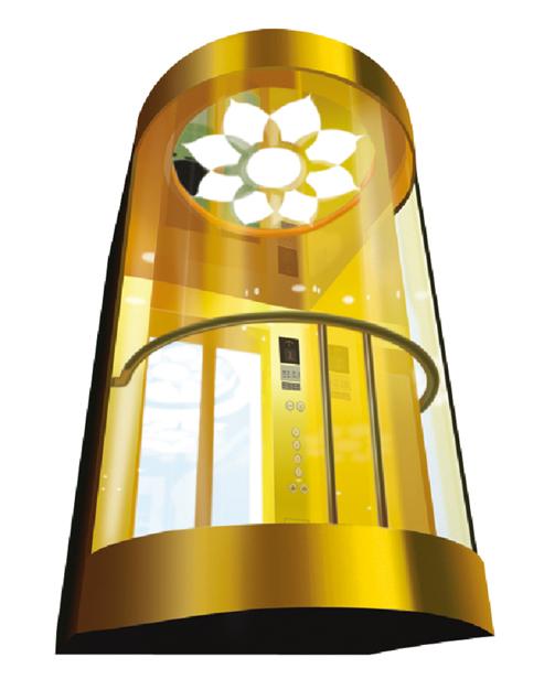 Panoramic Elevator  Car Decoration SSE-G023