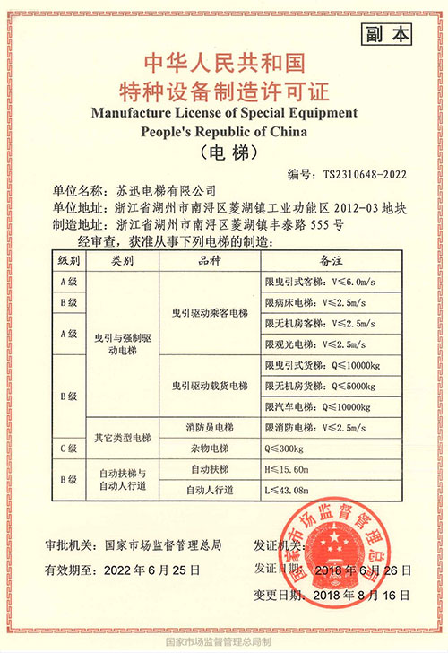 Copy of Manufacturing License